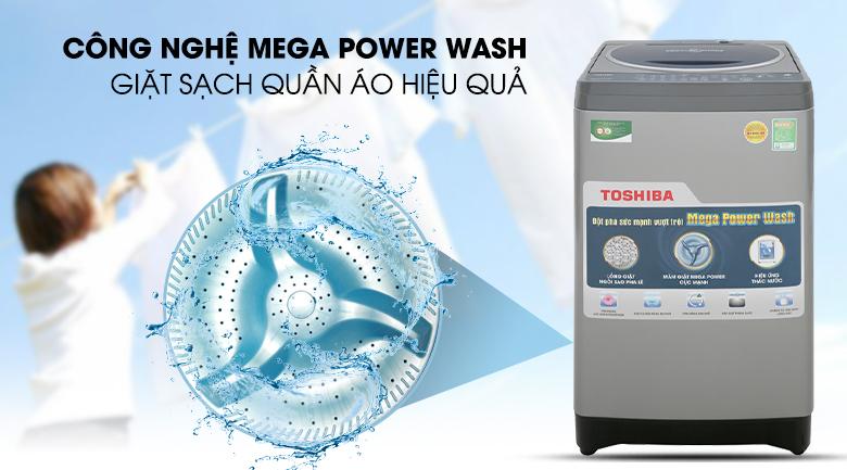 Công nghệ Mega Power Wash - Máy giặt Toshiba 8.2 kg AW-J920LV SB