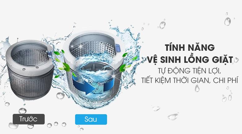 Vệ sinh lồng giặt tự động - Máy giặt Toshiba 8.2 kg AW-J920LV SB
