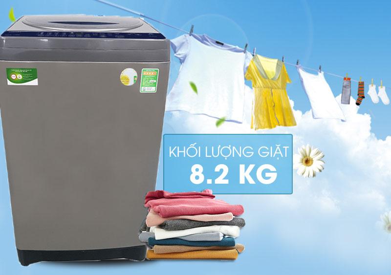 Khối lượng giặt 8.2 kg - Máy giặt Toshiba 8.2 kg AW-J920LV SB