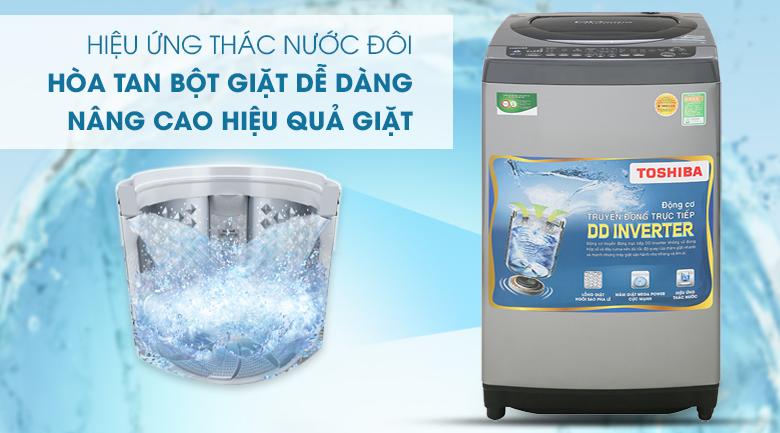 Hiệu ứng thác nước đôi - Máy giặt Toshiba Inverter 9 Kg AW-DJ1000CV SK