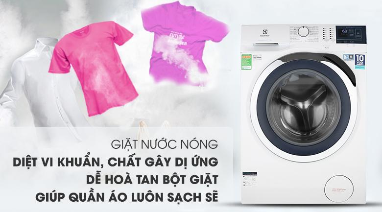 Giặt nước nóng - Máy giặt Electrolux Inverter 8 kg EWF8024BDWA