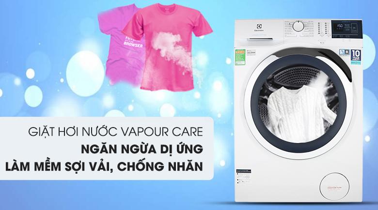 Công nghệ Vapour Care - Máy giặt Electrolux Inverter 8 kg EWF8024BDWA