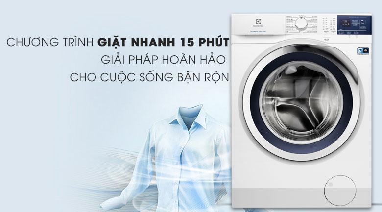 Chương trình giặt nhanh - Máy giặt Electrolux Inverter 8 kg EWF8024BDWA