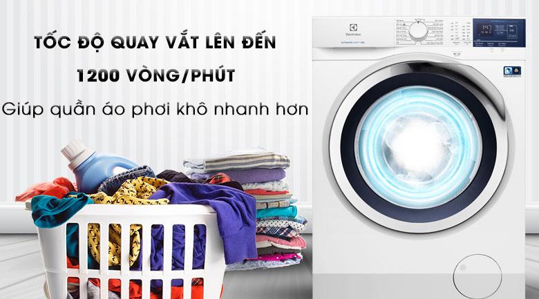 Tốc độ quay nhanh - Máy giặt Electrolux Inverter 8 kg EWF8024BDWA