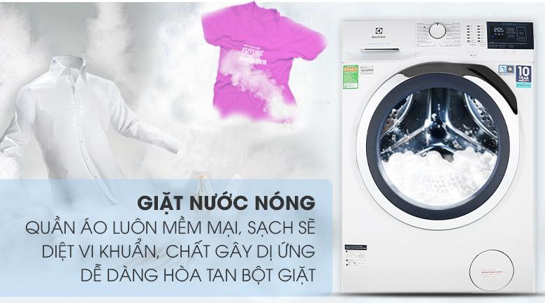 Giặt nước nóng - Máy giặt Electrolux Inverter 10 kg EWF1024BDWA