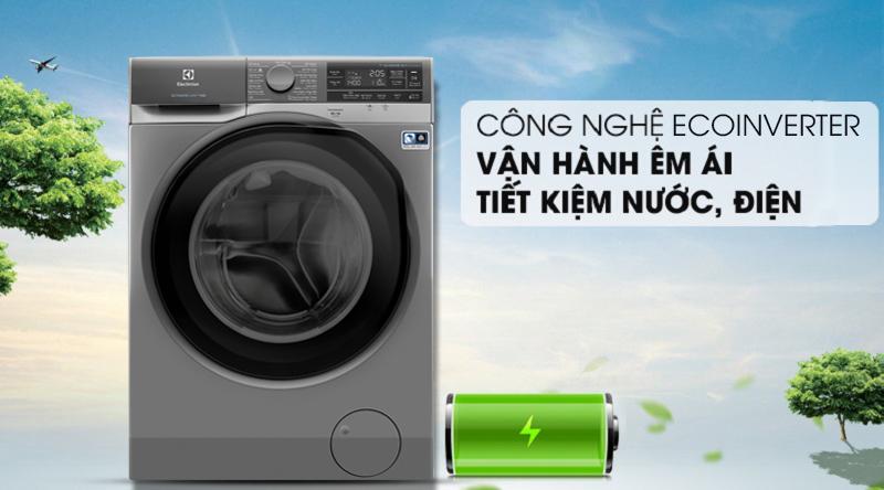 Máy giặt Electrolux Inverter 11 kg EWF1141AESA - Siêu tiết kiệm nước – điện nhờ công nghệ Inverter