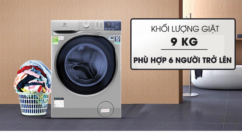 Khối lượng giặt 9 kg - Máy giặt Electrolux Inverter 9 kg EWF9024ADSA