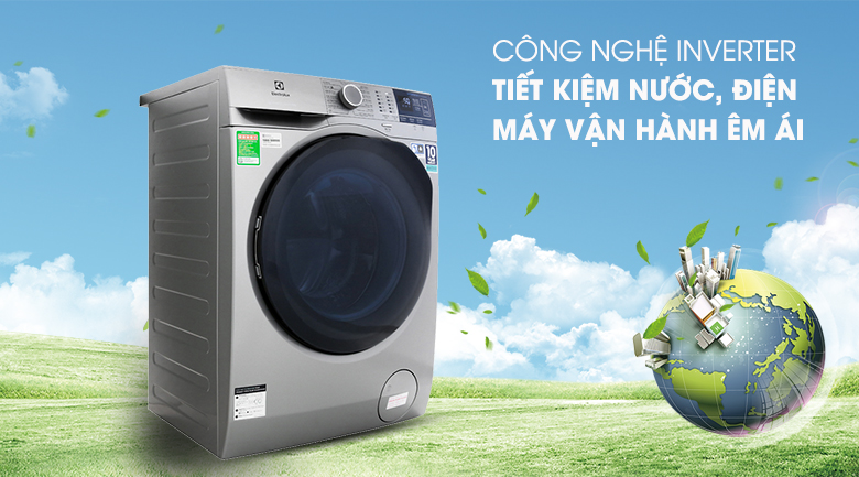Công nghệ Inverter - Máy giặt Electrolux Inverter 9 kg EWF9024ADSA
