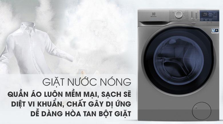 Giặt nước nóng - Máy giặt Electrolux Inverter 9 kg EWF9024ADSA