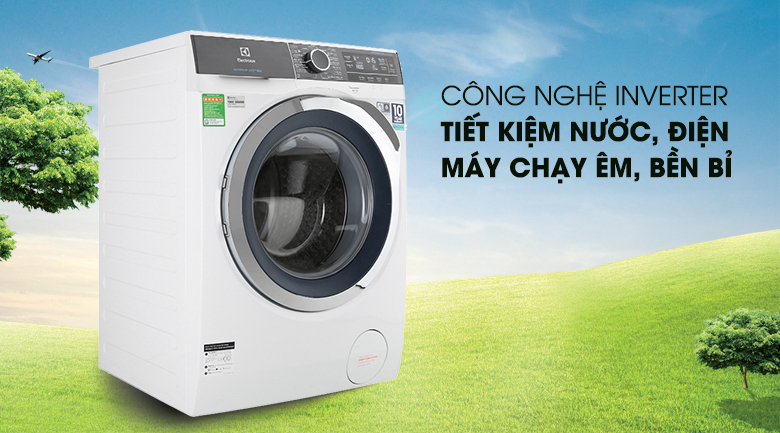 Máy giặt Electrolux Inverter 10 kg EWF1023BEWA - Tiết kiệm điện nước nhờ công nghệ Inverter