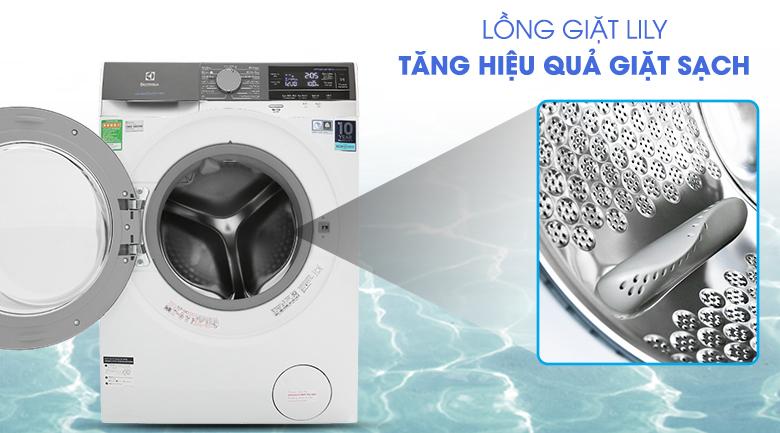 Máy giặt Electrolux Inverter 10 kg EWF1023BEWA - lồng giặt Lily giúp quần áo thấm nhanh đều nước