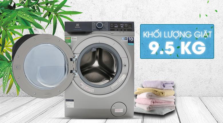 Khối lượng giặt lên đến 9.5 KG - Máy giặt Electrolux Inverter 9.5 kg EWF9523ADSA