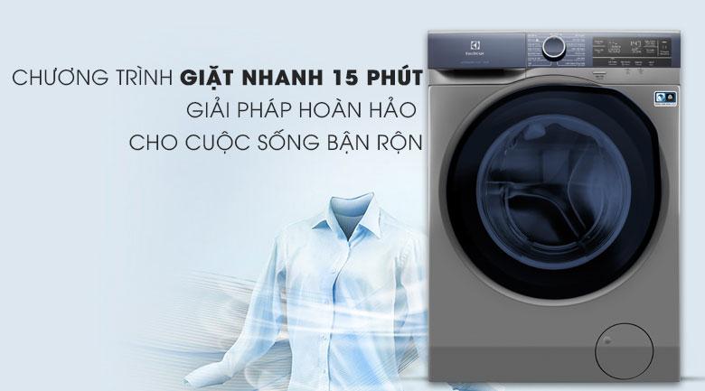 Chế độ giặt nhanh - Máy giặt Electrolux Inverter 9.5 kg EWF9523ADSA