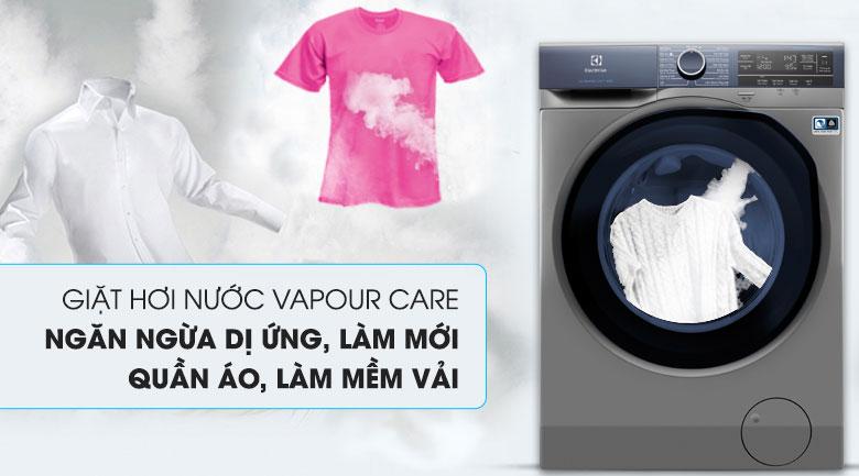 Công nghệ giặt hơi nước Vapour Care - Máy giặt Electrolux Inverter 9.5 kg EWF9523ADSA
