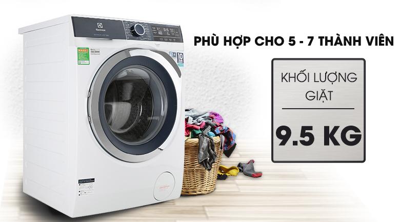 Khối lượng giặt 9.5 kg - Máy giặt Electrolux Inverter 9.5 kg EWF9523BDWA
