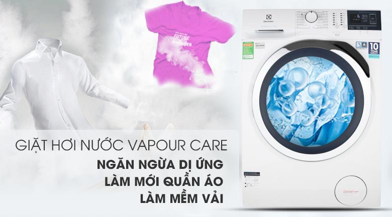 Máy giặt Electrolux EWF9024BDWB - Kháng khuẩn, giảm nhăn quần áo nhờ công nghệ Vapour Care