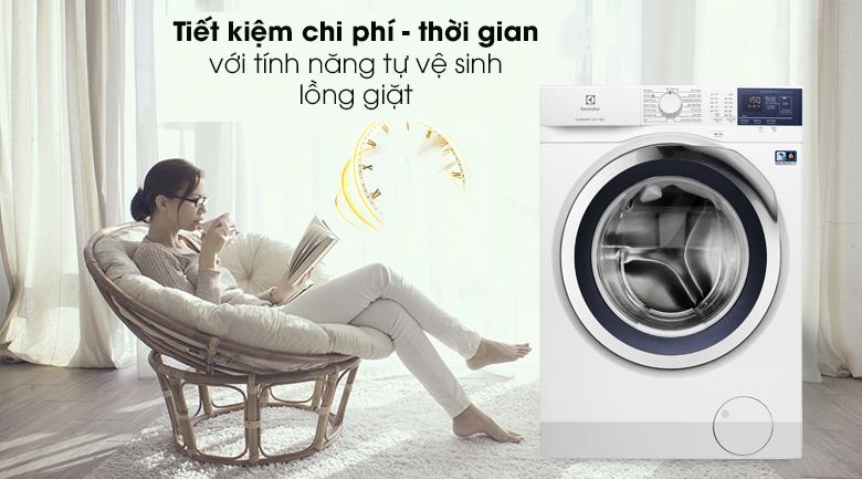 Máy giặt Electrolux EWF9024BDWB-Tự vệ sinh lồng giặt, tiết kiệm chi phí