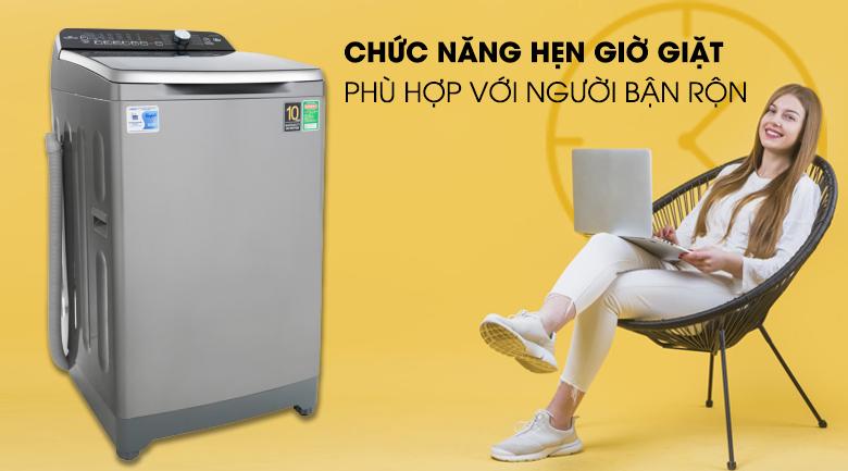 Tính năng hẹn giờ giặt xong - Máy giặt Aqua Inverter 10 Kg AQW-DR100ET S