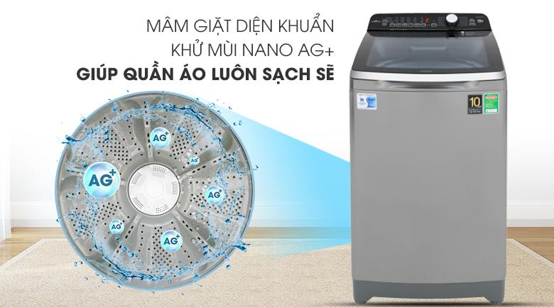 Công nghệ Nano Ag+ - Máy giặt Aqua Inverter 10 Kg AQW-DR100ET S