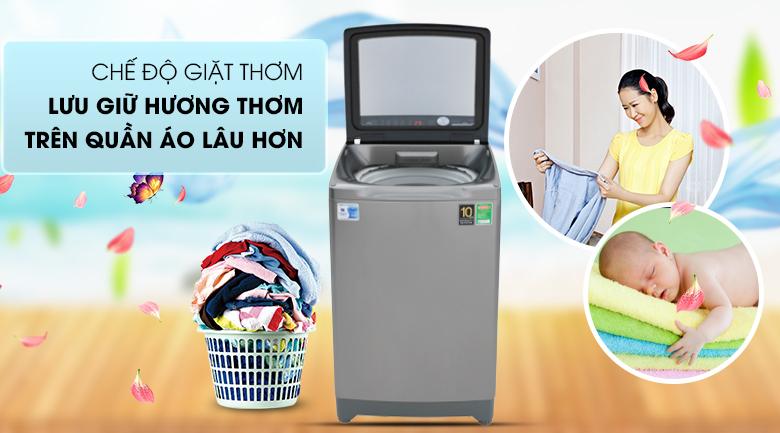 Tính năng lưu giữ hương thơm - Máy giặt Aqua Inverter 10 Kg AQW-DR100ET S