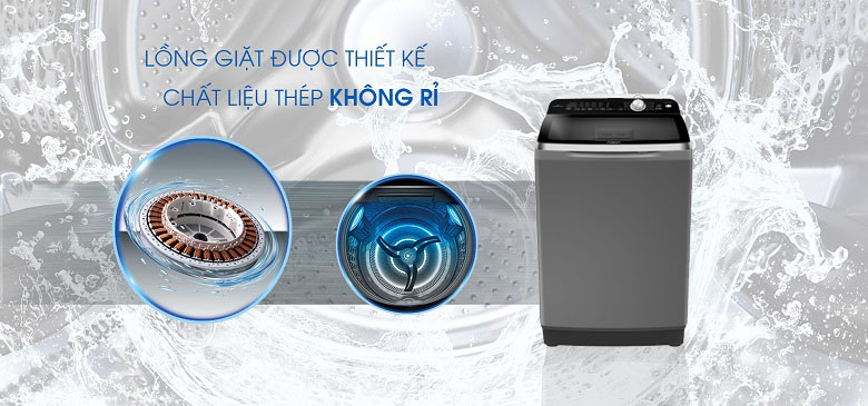 Lồng giặt Pillow - Máy giặt Aqua Inverter 10 Kg AQW-DR100ET S