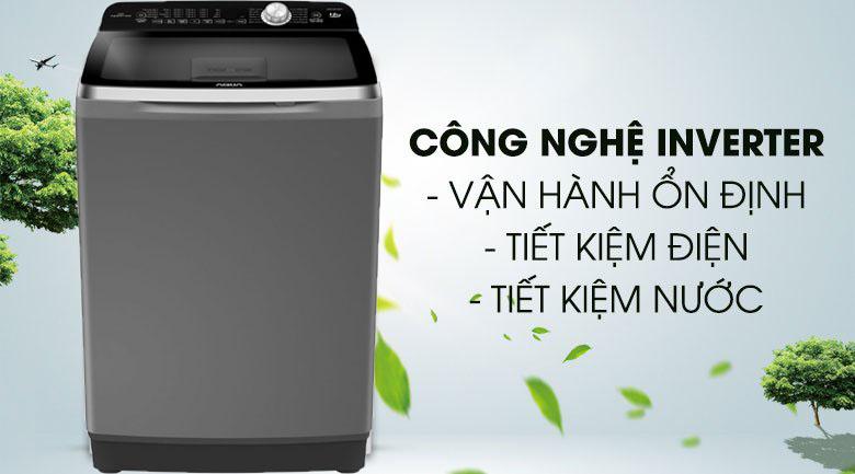 Máy giặt Inverter - Máy giặt Aqua Inverter 10 Kg AQW-DR100ET S