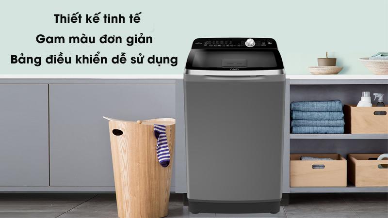 Máy giặt Aqua Inverter 12 Kg AQW-DR120CT H - Thiết kế tinh tế, bảng điều khiển dễ sử dụng