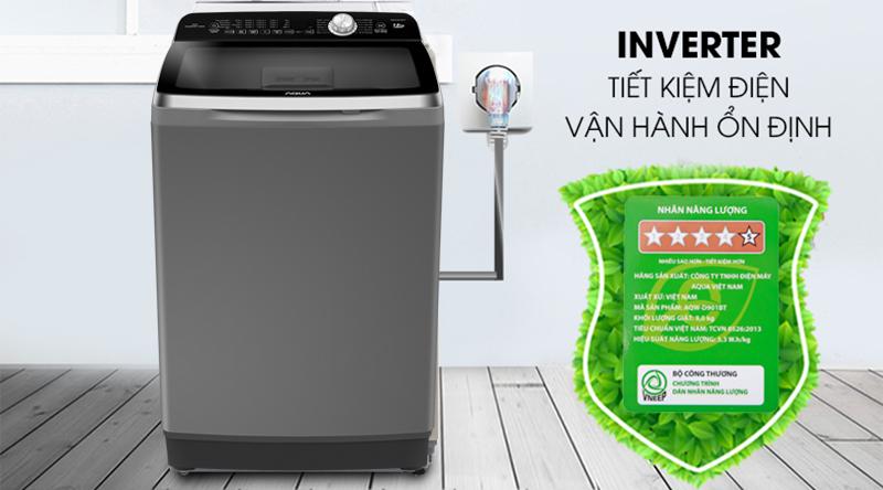 Máy giặt Aqua Inverter 12 Kg AQW-DR120CT H - Tiết kiệm điện nước nhờ công nghệ Inverter