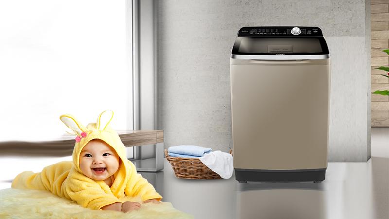 Máy giặt Aqua Inverter 12 Kg AQW-DR120CT H - Tránh xa tầm tay trẻ em với chức năng khóa
