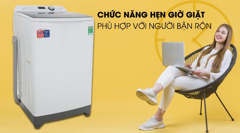 Tính năng hẹn giờ giặt xong - Máy giặt Aqua 10 Kg AQW-FR100ET W