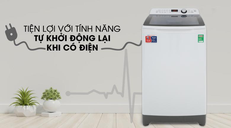 Tự khởi động lại khi có điện - Máy giặt Aqua 10 Kg AQW-FR100ET W