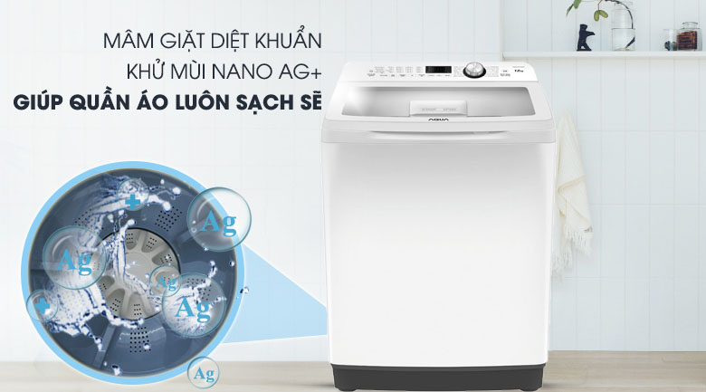 Công nghệ Nano Ag+ - Máy giặt Aqua 10 Kg AQW-FR100ET W