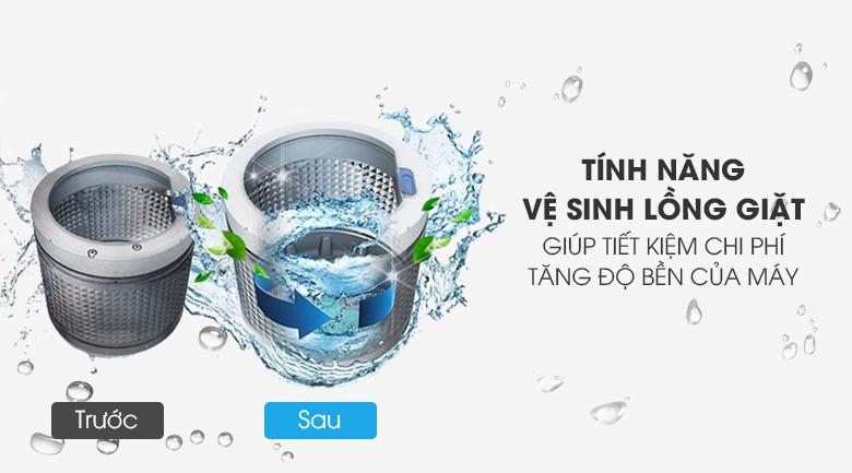 Máy giặt Toshiba Inverter 13 kg AW-DUJ1400GV KK - Tiết kiệm chi phí với vệ sinh lồng giặt tự động