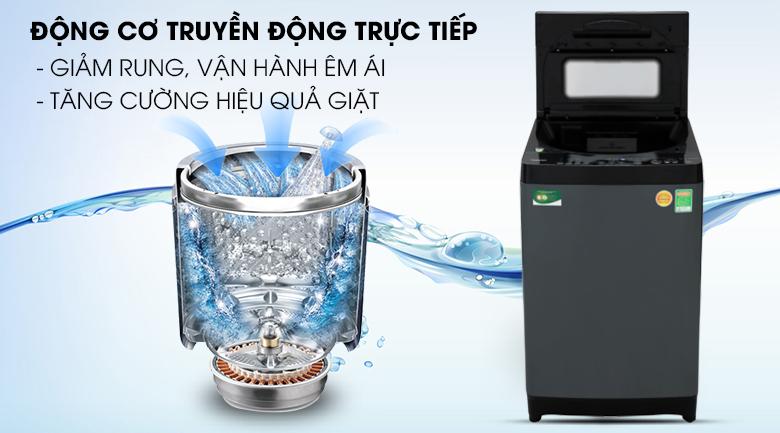Máy giặt Toshiba Inverter 13 kg AW-DUJ1400GV KK - Độ bền lâu, tốc độ vắt cao với động cơ truyền động trực tiếp