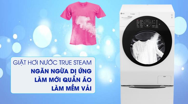 Giặt hơi nước True steam - Máy giặt sấy LG TWINWash Inverter 10.5 kg FG1405H3W1 & TG2402NTWW