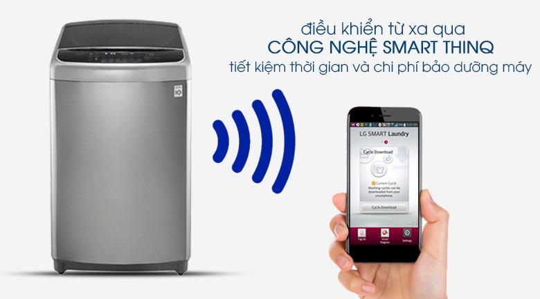 Sử dụng Smartphone để điều khiển từ xa bằng Wifi - Máy giặt LG Inverter 11 kg TH2111SSAL