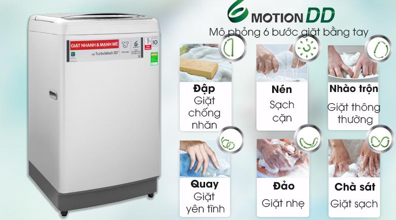 Công nghệ giặt 6 chuyển động - Máy giặt LG Inverter 11 kg TH2111SSAL