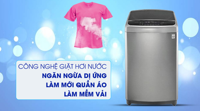 Giặt hơi nước diệt khuẩn, giảm nhăn, bảo vệ sức khỏe - Máy giặt LG Inverter 11 kg TH2111SSAL