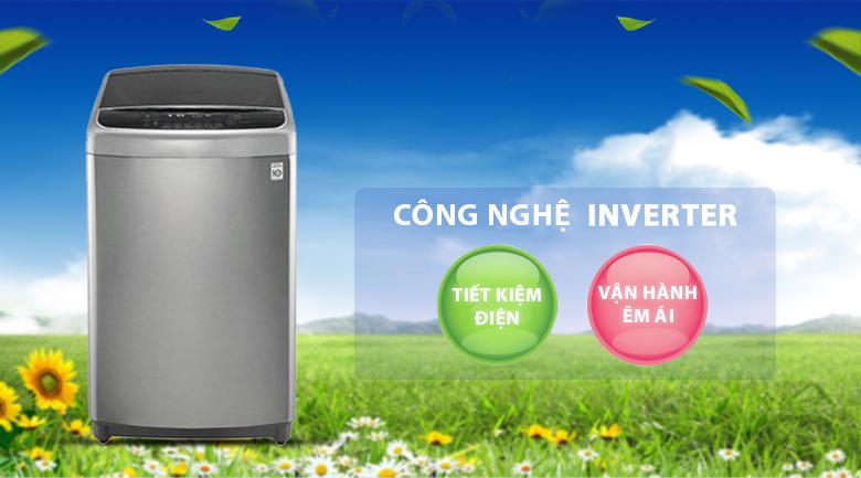 Công nghệ Inverter tiết kiệm điện năng, vận hành bền bỉ - Máy giặt LG Inverter 11 kg TH2111SSAL
