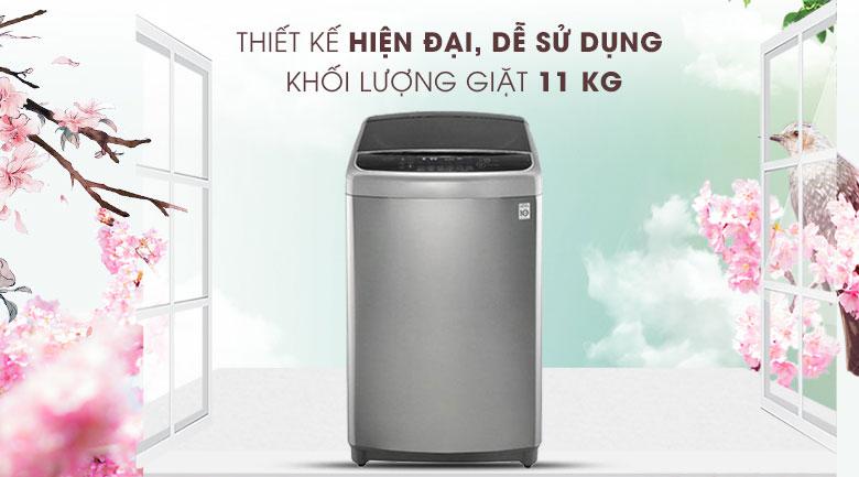 Thiết kế hiện đại, dễ sử dụng - Máy giặt LG Inverter 11 kg TH2111SSAL