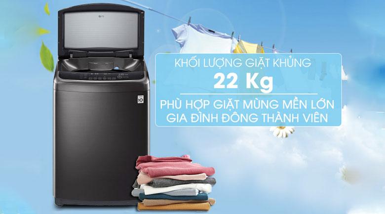 Khối lượng giặt 22 Kg - Máy giặt LG Inverter 22 kg TH2722SSAK