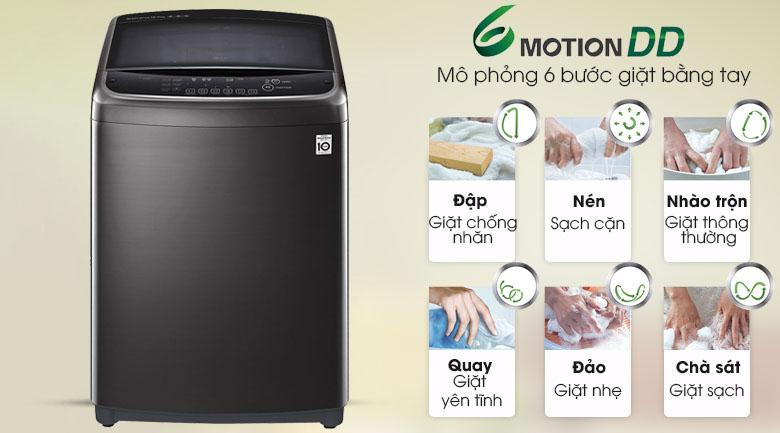 Công nghệ giặt 6 chuyển động - Máy giặt LG Inverter 22 kg TH2722SSAK