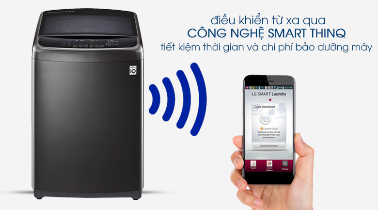 Máy giặt điều khiển từ xa - Máy giặt LG Inverter 22 kg TH2722SSAK