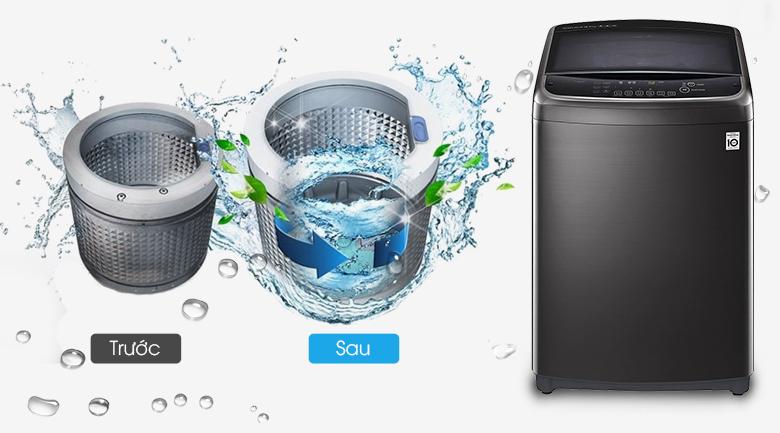 Tiết kiệm chi phí với vệ sinh lồng giặt tự động - Máy giặt LG Inverter 19 kg TH2519SSAK