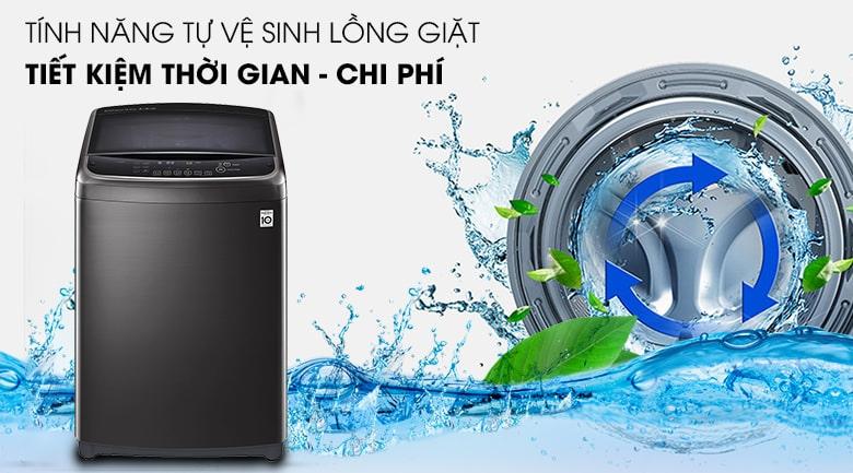 Vệ sinh lồng giặt tự động - Máy giặt LG Inverter 13 kg TH2113SSAK