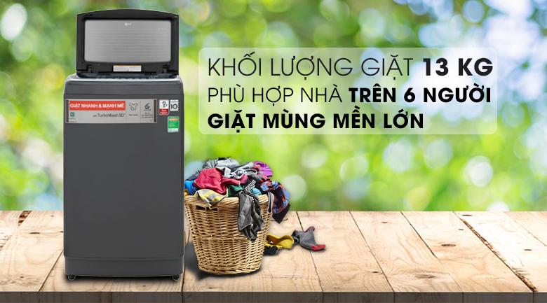 Thiết kế sang trọng và tinh tế - Máy giặt LG Inverter 13 kg TH2113SSAK