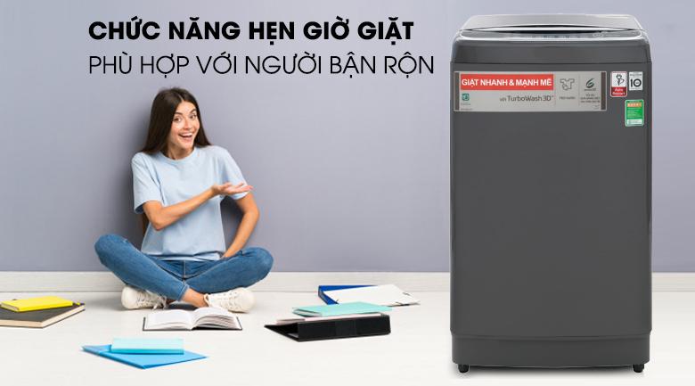 Chức năng hẹn giờ giặt xong - Máy giặt LG Inverter 13 kg TH2113SSAK