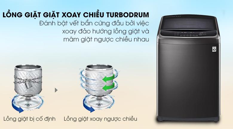Công nghệ Turbo Drum giảm nhăn quần áo - Máy giặt LG Inverter 13 kg TH2113SSAK