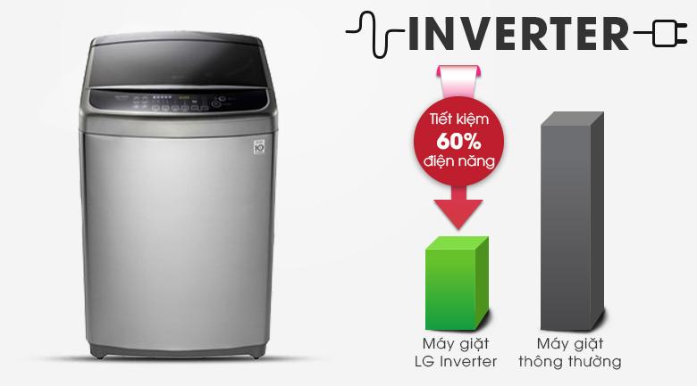 Công nghệ Inverter tiết kiệm điện, vận hành ổn định - Máy giặt LG Inverter 12 kg TH2112SSAV