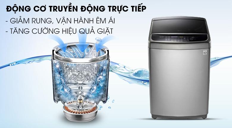 Động cơ truyền động trực tiếp vận hành êm ái - Máy giặt LG Inverter 12 kg TH2112SSAV